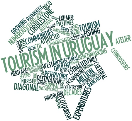 upmarket: Abstract word cloud for Tourism in Uruguay with related tags and terms