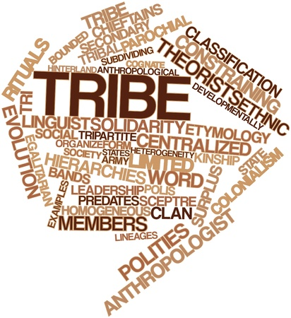 heterogeneity: Abstract word cloud for Tribe with related tags and terms Stock Photo