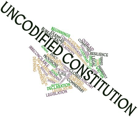 Abstract word cloud for Uncodified constitution with related tags and terms Stock Photo - 17020505