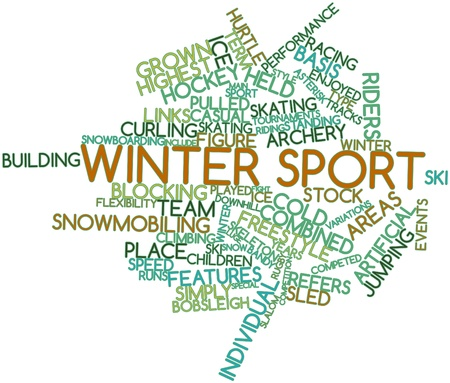 slalom: Abstract word cloud for Winter sport with related tags and terms