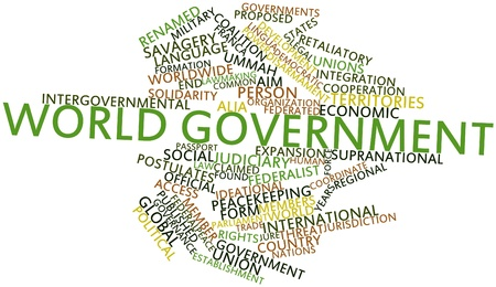 facto: Abstract word cloud for World government with related tags and terms