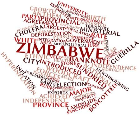 zimbabwe: Nube palabra abstracta para Zimbabue con las etiquetas y términos relacionados