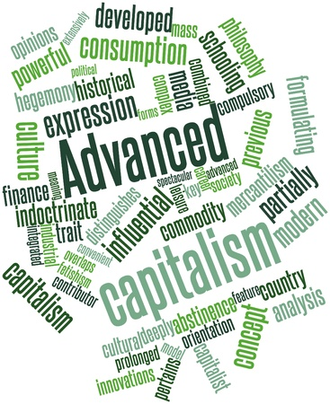 Abstract word cloud for Advanced capitalism with related tags and terms Stock Photo - 17024197