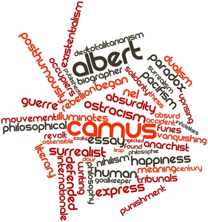 dualism: Abstract word cloud for Albert Camus with related tags and terms