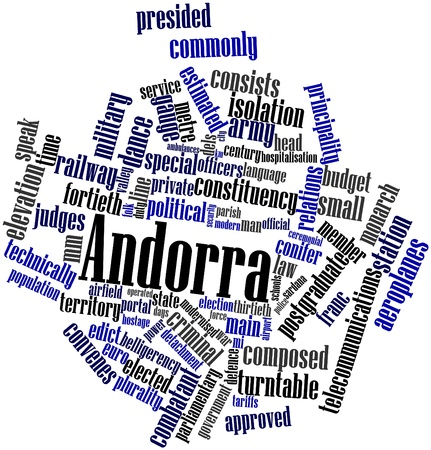 detachment: Abstract word cloud for Andorra with related tags and terms