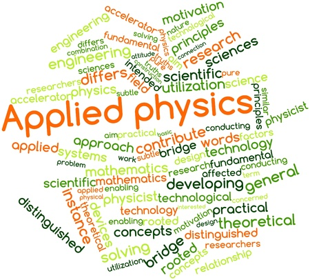 differs: Abstract word cloud for Applied physics with related tags and terms