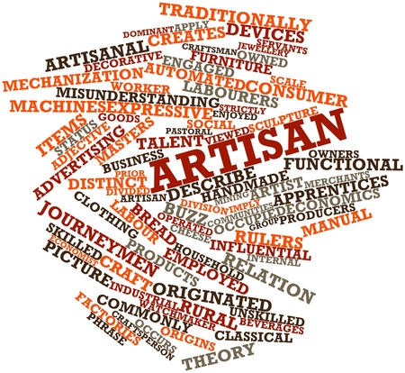 artisan: Abstract word cloud for Artisan with related tags and terms