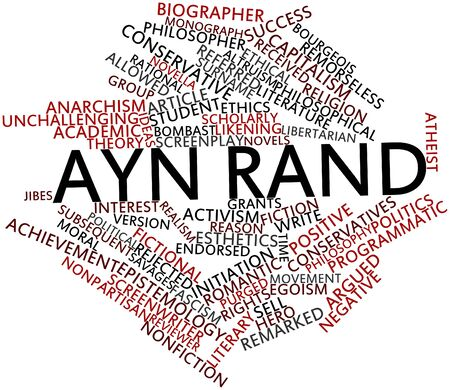 admirers: Abstract word cloud for Ayn Rand with related tags and terms