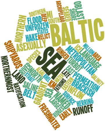baltic sea: Abstract word cloud for Baltic Sea with related tags and terms