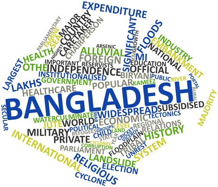 bangladesh: Abstract word cloud for Bangladesh with related tags and terms Stock Photo