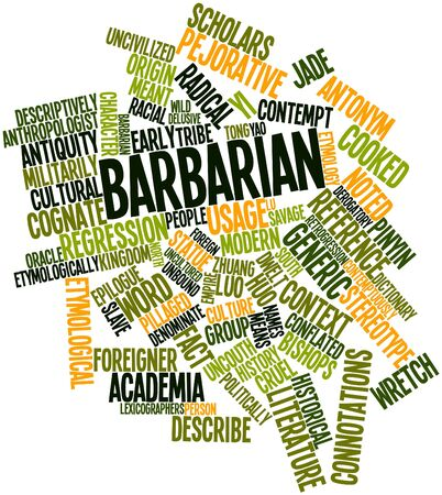 cognate: Abstract word cloud for Barbarian with related tags and terms