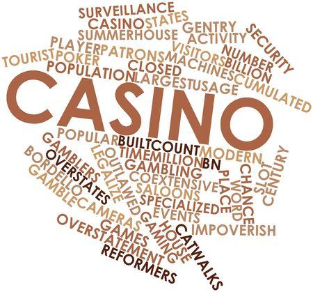 Abstracte woord wolk voor Casino met bijbehorende labels en termen Stockfoto