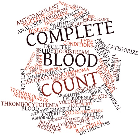 thalassemia: Abstract word cloud for Complete blood count with related tags and terms