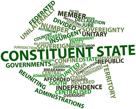predominant: Abstract word cloud for Constituent state with related tags and terms