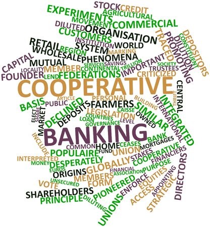 cooperative: Abstract word cloud for Cooperative banking with related tags and terms