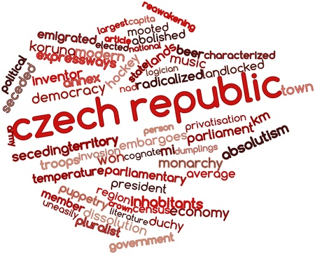 landlocked: Abstract word cloud for Czech Republic with related tags and terms Stock Photo