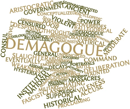 Abstract word cloud for Demagogue with related tags and terms photo