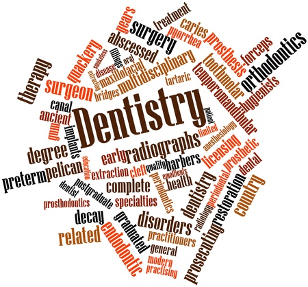 decay: Abstract word cloud for Dentistry with related tags and terms