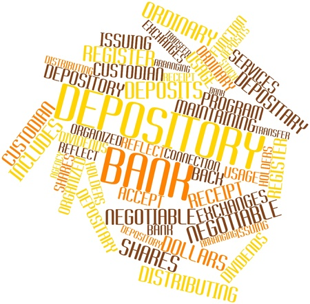 custodian: Abstract word cloud for Depository bank with related tags and terms