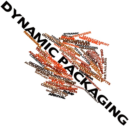 dictate: Abstract word cloud for Dynamic packaging with related tags and terms