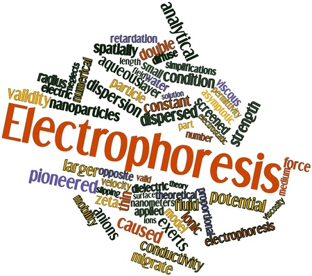 limitations: Abstract word cloud for Electrophoresis with related tags and terms Stock Photo