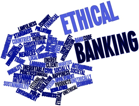 conformance: Abstract word cloud for Ethical banking with related tags and terms