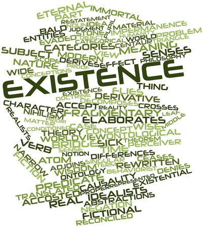 humankind: Abstract word cloud for Existence with related tags and terms