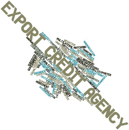 Abstract word cloud for Export credit agency with related tags and terms