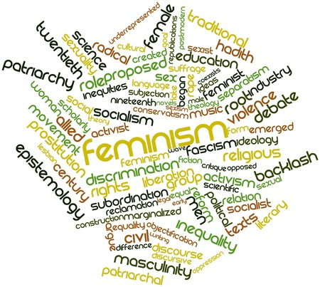 Abstract word cloud for Feminism with related tags and terms Stock Photo - 17024212