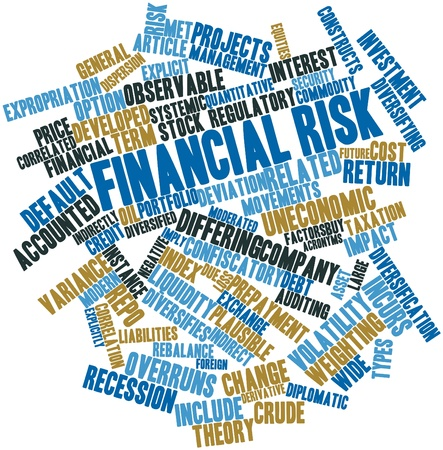 Abstract word cloud for Financial risk with related tags and terms