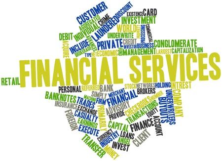 rendite: Word cloud astratto per i servizi finanziari con tag correlati e termini Archivio Fotografico