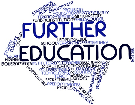 undertake: Abstract word cloud for Further education with related tags and terms