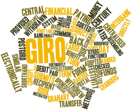 circulate: Abstract word cloud for Giro with related tags and terms Stock Photo