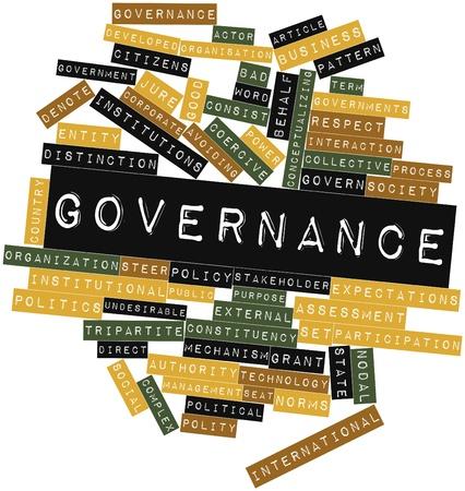 governance: Abstracte woordwolk for Governance met gerelateerde tags en termen