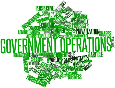 Abstract word cloud for Government operations with related tags and terms Stock Photo - 17024471