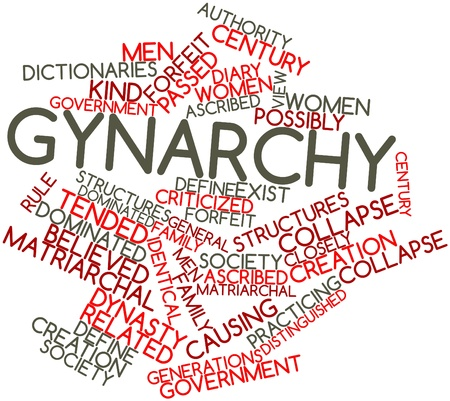 ascribed: Abstract word cloud for Gynarchy with related tags and terms