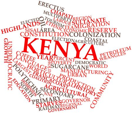 lingua: Abstract word cloud for Kenya with related tags and terms Stock Photo