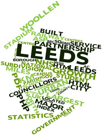 nhs: Abstract word cloud for Leeds with related tags and terms