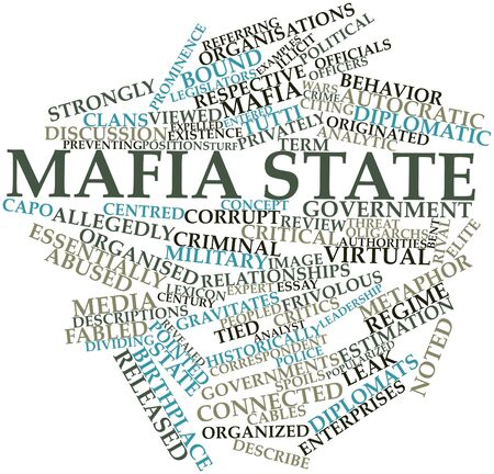 Abstract word cloud for Mafia state with related tags and terms Stock Photo - 17024559