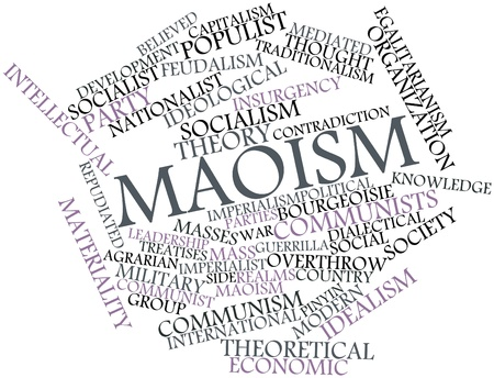 Abstract word cloud for Maoism with related tags and terms Stock Photo - 17021338