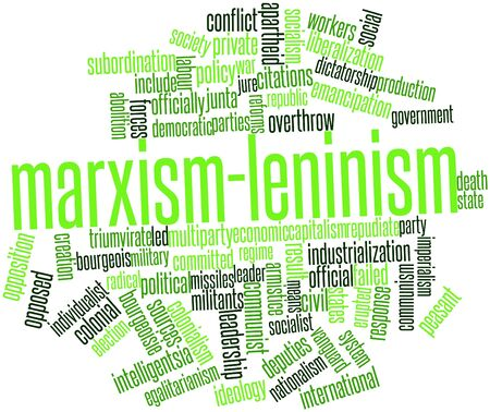 egalitarianism: Abstract word cloud for Marxism-Leninism with related tags and terms