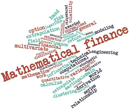 quantitative: Abstract word cloud for Mathematical finance with related tags and terms