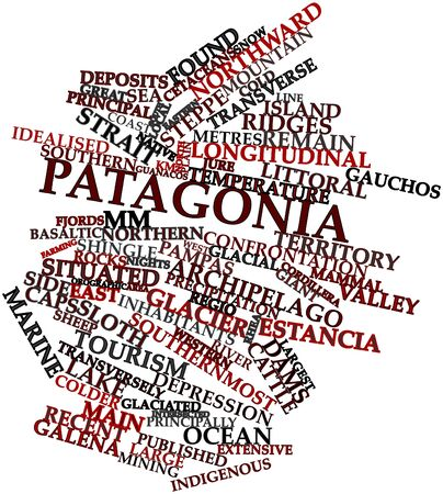Abstract word cloud for Patagonia with related tags and terms Stock Photo - 17029809