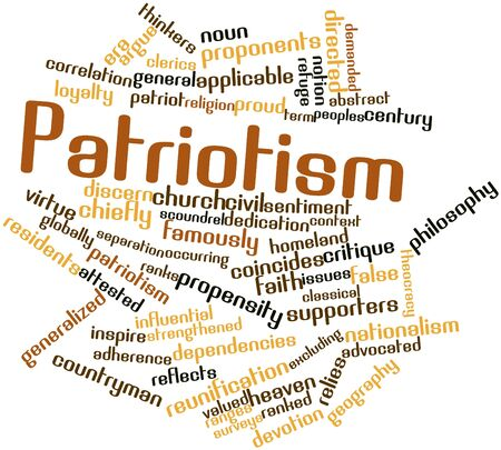 critique: Abstract word cloud for Patriotism with related tags and terms