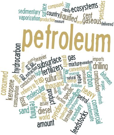 bbl: Abstract word cloud for Petroleum with related tags and terms