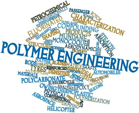 polymer: Abstract word cloud for Polymer engineering with related tags and terms