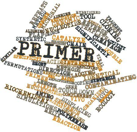 Abstracte woord wolk voor Primer met gerelateerde tags en termen