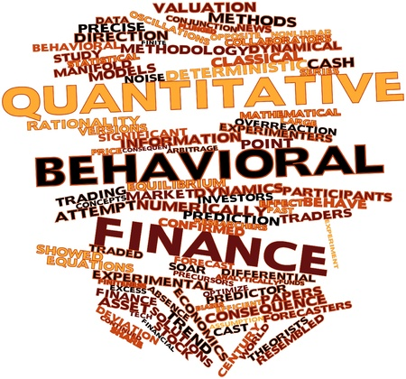 Abstract word cloud for Quantitative behavioral finance with related tags and terms