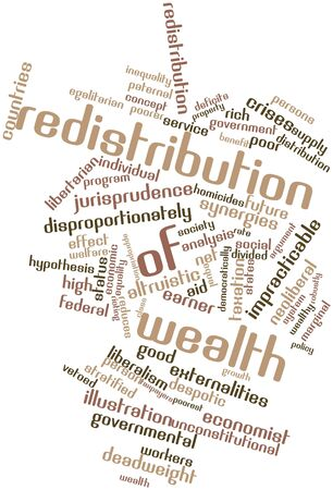 macroeconomic: Abstract word cloud for Redistribution of wealth with related tags and terms