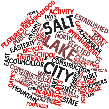 statehood: Abstract word cloud for Salt Lake City with related tags and terms